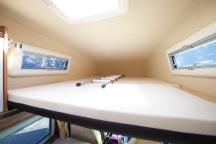 Das Bett (Liegefläche 1,70 mal 2,10 Meter!